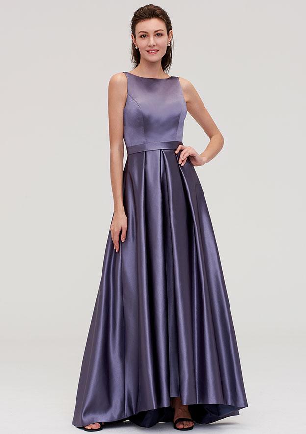 76e230053f Satin Bridesmaid Dress A-line Princess Bateau Sleeveless Ankle-Length With  Pleated